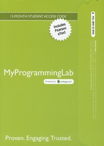9780132991704: MyProgrammingLab with Pearson eText -- Access Card -- for Introduction to Java Programming, Comprehensive Version (MyProgrammingLab (Access Codes))