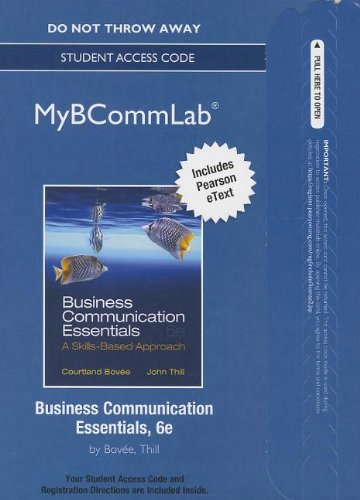 9780132992343: NEW MyBCommLab with Pearson eText -- Access Card -- for Business Communication Essentials