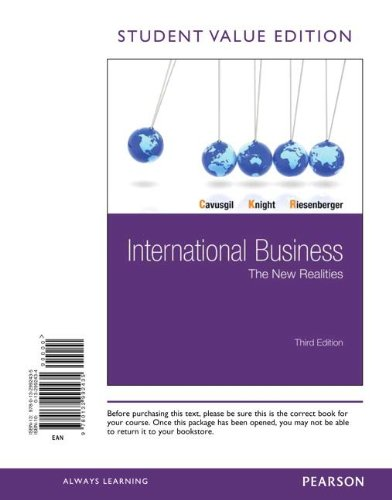 9780132992435: International Business: The New Realities, Student Value Edition (3rd Edition)
