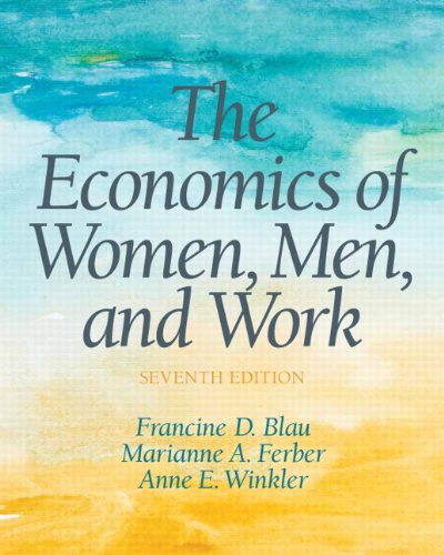 9780132992817: The Economics of Women, Men and Work (Pearson Series in Economics)