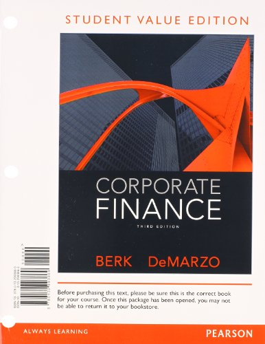 9780132993869: Corporate Finance, Student Value Edition (3rd Edition)