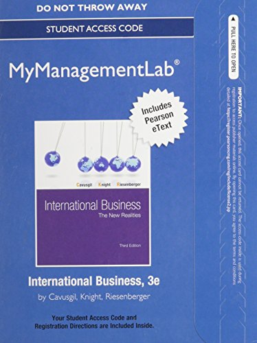9780132993968: NEW MyManagementLab with Pearson eText -- Access Card -- for International Business