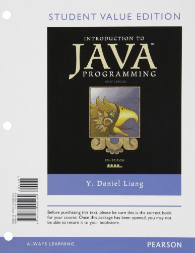 9780132995160: Introduction to Java Programming, Brief Version, Student Value Edition (9th Edition)