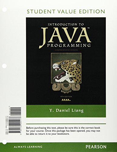 9780132995177: Introduction to Java Programming, Comprehensive Version, Student Value