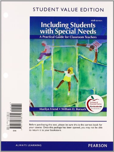 9780132995696: Including Students with Special Needs: A Practical Guide for Classroom Teachers, Student Value Edition Plus NEW MyEducationLab with Pearson eText -- Access Card Package (6th Edition)