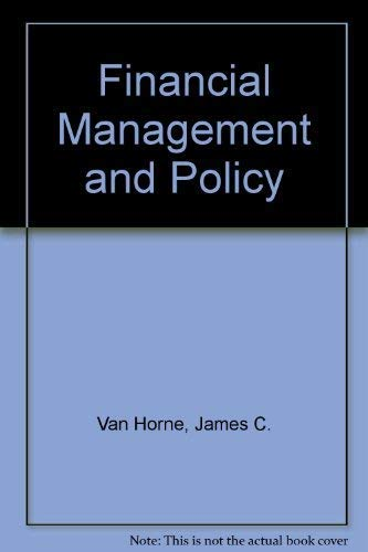 9780133001952: Financial Management and Policy