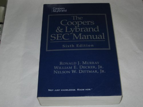 9780133004274: The Coopers & Lybrand Sec Manual