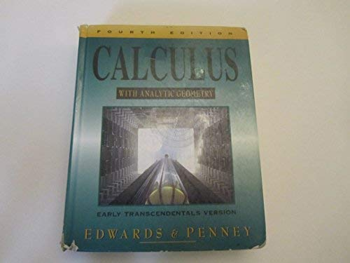 9780133005752: Calculus With Analytic Geometry: Early Transcendentals Version