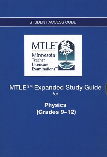 9780133007749: MTLE Expanded Study Guide -- Access Card -- for Physics (Grades 9-12)