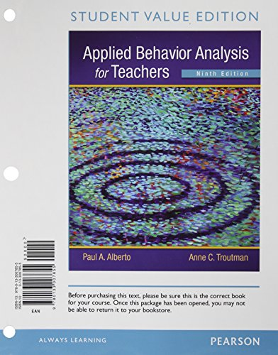 9780133007855: Applied Behavior Analysis for Teachers, Student Value Edition