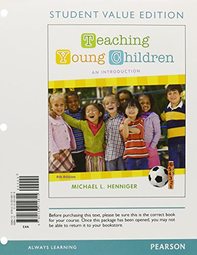 9780133014815: Teaching Young Children: An Introduction, Student Value Edition (5th Edition)