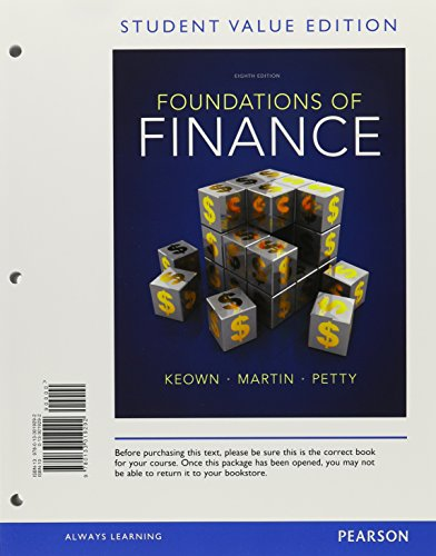 9780133019292: Foundations of Finance, Student Value Edition (8th Edition)