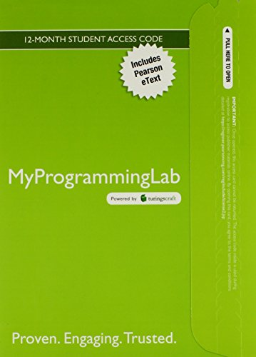 9780133019865: MyLab Programming with Pearson eText - Access Card - for Introduction to Programming Using Python (MyProgrammingLab (Access Codes))