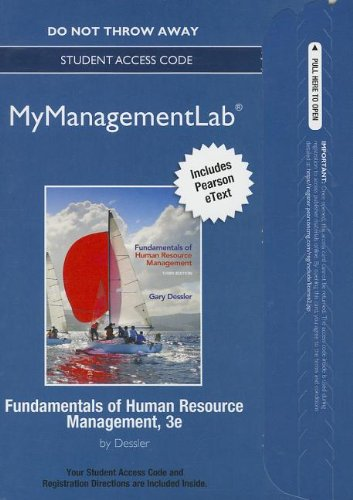 9780133020212: NEW MyManagementLab with Pearson eText -- Access Card -- for Fundamentals of Human Resource Management (MyManagementLab (access codes))