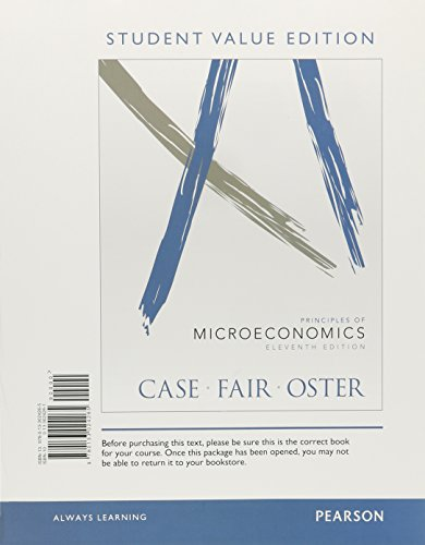 9780133024265: Principles of Micoroeconomics, Student Value Edition (11th Edition) (The Pearson Series in Economics)