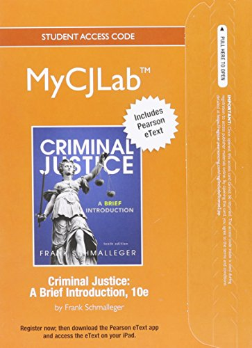 9780133026252: NEW MyCJLab with Pearson eText -- Access Card -- for Criminal Justice: A Brief Introduction