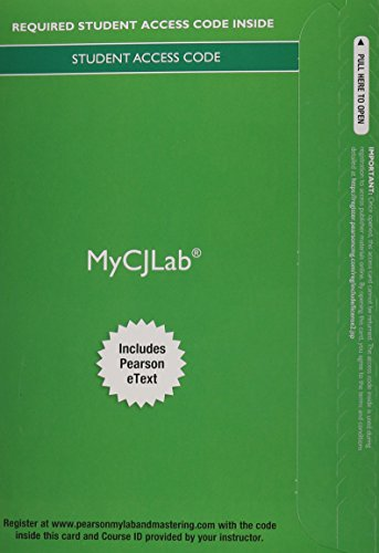 9780133027211: MyCJLab with Pearson eText -- Access Card -- for Corrections: An Introduction