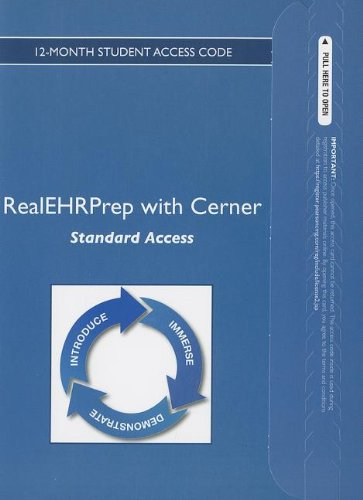 9780133028669: Cerner's Academic EHR: Standard -- Access Card -- (12 Month Access)