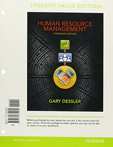9780133029871: Human Resource Management, Student Value Edition Plus 2012 MyManagementLab with Pearson eText -- Access Card Package