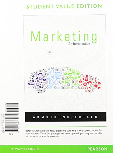 9780133033113: Marketing: An Introduction, Student Value Edition Plus NEW MyMarketingLab with Pearson eText -- Access Card Package