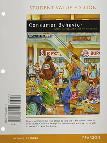 9780133033151: Consumer Behavior, Student Value Edition Plus 2012 MyMarketingLab with Pearson eText -- Access Card Package