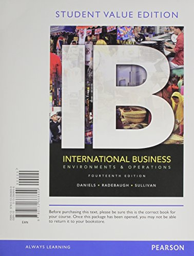 9780133033960: International Business: Environments & Operations, Student Value Edition Plus 2012 MyManagementLab with Pearson eText -- Access Card Package