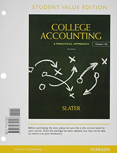 9780133034417: College Accounting Chapters 1-25, Student Value Edition Plus NEW MyAccountingLab with Pearson eText -- Access Card Package