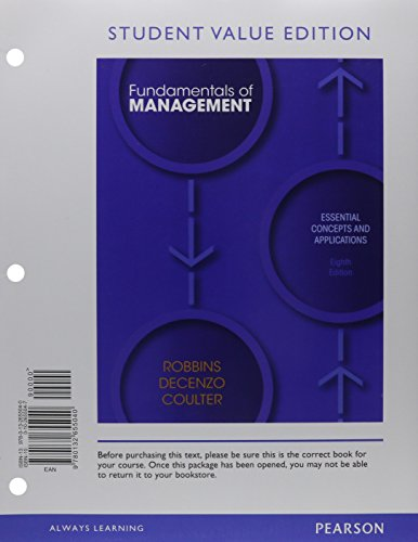 9780133035667: Fundamentals of Management, Student Value Edition with Student Access Code: Essential Concepts and Applications