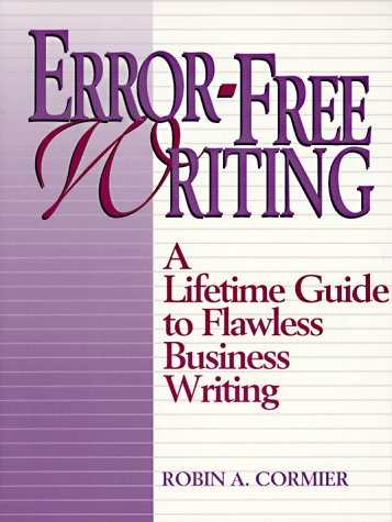 9780133035957: Error-Free Writing: A Lifetime Guide to Flawless Business Writing