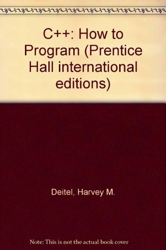 9780133036787: C++: How to Program (Prentice Hall international editions)