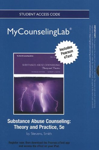 9780133036817: NEW MyCounselingLab with Pearson eText -- Standalone Access Card -- for Substance Abuse Counseling: Theory and Practice