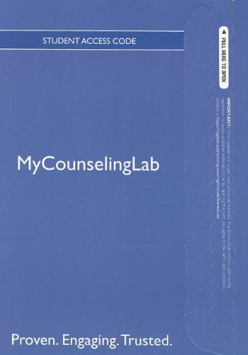 9780133036855: The NEW MyCounselingLab with Pearson eText -- Standalone Access Card -- for Professional Counselor: A Process Guide to Helping