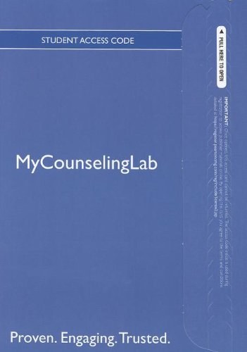 NEW MyCounselingLab with Pearson eText -- Standalone Access Card -- for Foundations of Addiction ...