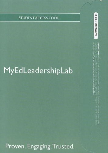 9780133037548: NEW MyEdLeadershipLab with Pearson eText -- Standalone Access Card -- for The Basic Guide to SuperVision and Instructional Leadership