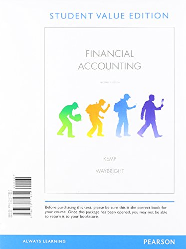 Financial Accounting, Student Value Edition Plus NEW MyAccountingLab with Pearson eText -- Access ...