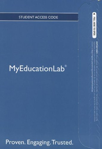 9780133040821: NEW MyEducationLab with Pearson eText -- Standalone Access Card -- for Building Literacy in Secondary Content Area Classrooms