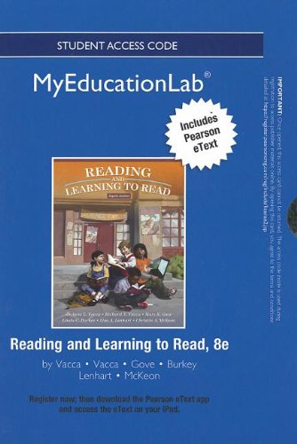 9780133040906: NEW MyEducationLab with Pearson eText -- Standalone Access Card -- for Reading and Learning to Read (myeducationlab (Access Codes))