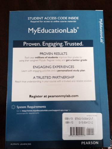9780133041217: NEW MyEducationLab with Pearson eText -- Standalone Access Card -- for Educational Research: Competencies for Analysis and Applications