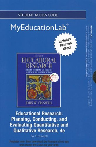 9780133041279: NEW MyEducationLab with Pearson eText -- Standalone Access Card -- for Educational Research: Planning, Conducting, and Evaluating Quantitative and Qualitative Research (myeducationlab (Access Codes))