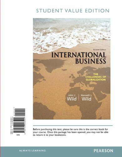 9780133043501: International Business: The Challenges of Globalization, Student Value Edition (7th Edition)