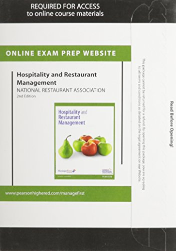 9780133044539: Exam Prep for Hospitality and Restaurant Management -- Access Card
