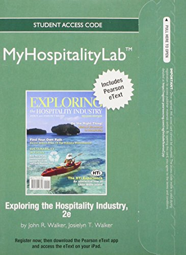 9780133045826: 2012 MyHospitalityLab with Pearson eText -- Access Card -- for Exploring the Hospitality Industry