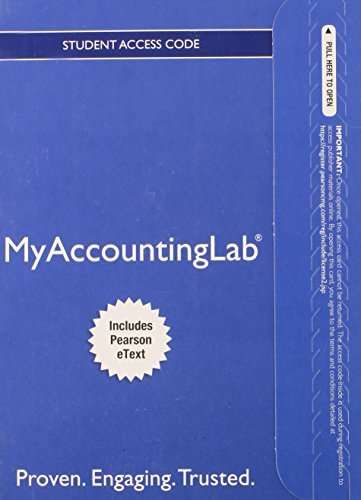 9780133048995: NEW MyAccountingLab with Pearson eText -- Access Card -- for Financial Accounting (MyAccountingLab (Access Codes))