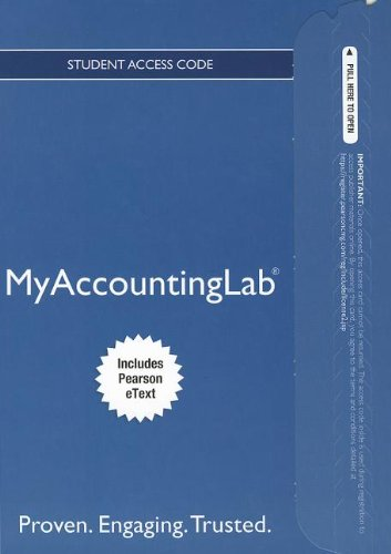 9780133049343: NEW MyAccountingLab with Pearson eText -- Access Card -- for Financial Accounting (MyAccountingLab (Access Codes))