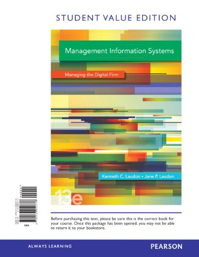 9780133050776: Management Information Systems, Student Value Edition (13th Edition)