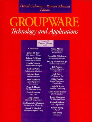 9780133051940: Groupware: Technology and Applications