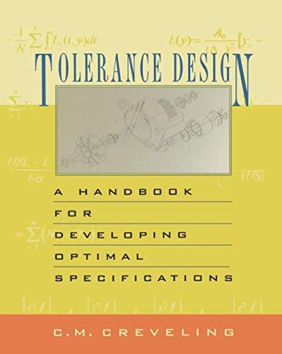 9780133052343: Tolerance Design (paperback): A Handbook for Developing Optimal Specifications