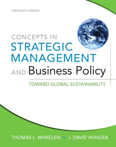 9780133052596: Concepts in Strategic Management and Business Policy: Toward Global Sustainability Plus NEW MyManagementLab with Pearson eText -- Access Card Package (13th Edition)