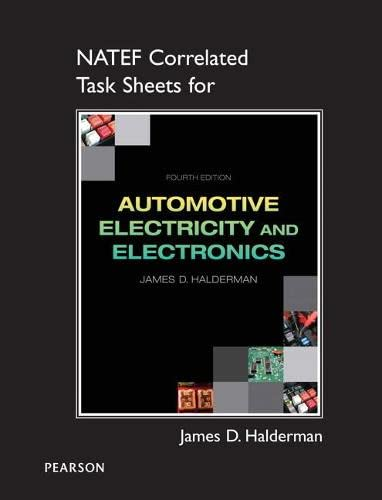 9780133053135: NATEF Correlated Task Sheets for Automotive Electricity and Electronics
