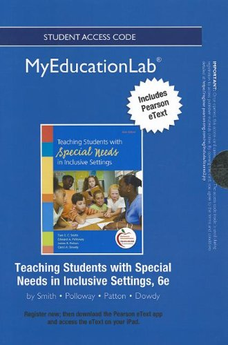 9780133053159: NEW MyEducationLab with Pearson eText -- Standalone Access Card -- for Teaching Students with Special Needs in Inclusive Settings (myeducationlab (Access Codes))